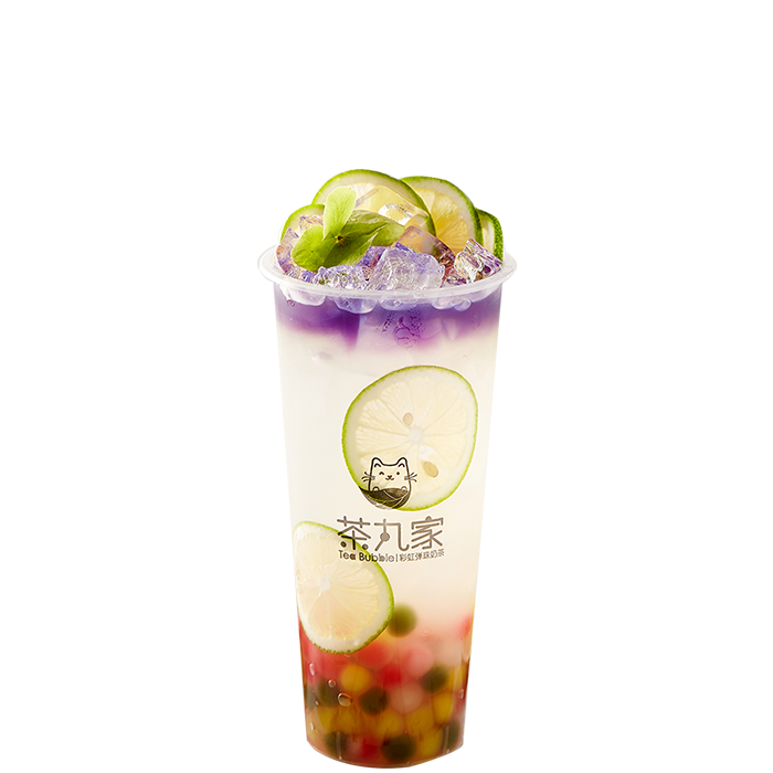 Refreshing Lemonade with Rainbow Pearl