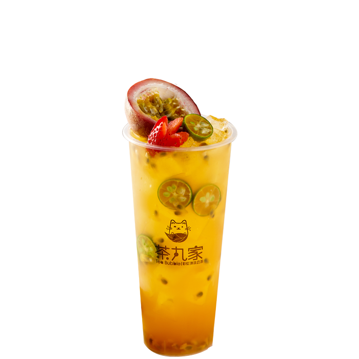 Passionfruit Green Tea with Jelly